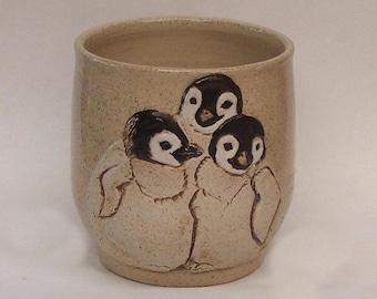 Baby Penguins Mug, Stoneware Ceramic Mug