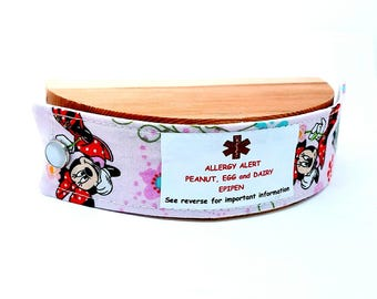 Child Medical Alert Bracelet or Safety ID Bracelet Cotton Band for Kid's Autism Safety Band Minnie Mouse Clothing