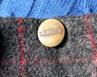 "L.L. Bean Men's Maine Guide Malone Wool Pants size 32"" X 30"" Windowpane Plaid Winter Hunting Cross Country Ski Trousers Retro Prep - Maine"