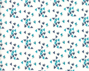 Spectrum Triangles Indigo Paper from Spectrum Collection by V and Co for Moda Fabrics