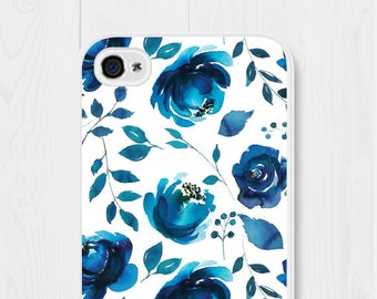 iPhone 7 Case Phone Case iPhone 6 Phone Case Floral iPhone 5 Case Blue iPhone SE Case Floral Samsung Galaxy S7 Case iPhone 4 Case Royal Blue