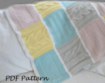 Knitting PATTERN- Cozy Baby Blanket PDF knitting pattern