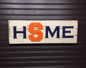Syracuse University orange HOME plaque, sign