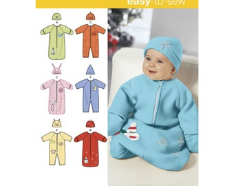 Sz XXS/XS/S - Simplicity Baby Pattern 1565 - Baby Clothes Pattern - Baby Bunting, Romper and Hats