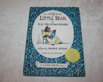 Vintage Hard Cover Book Little Bear By Else Holmelund Minarik 1957