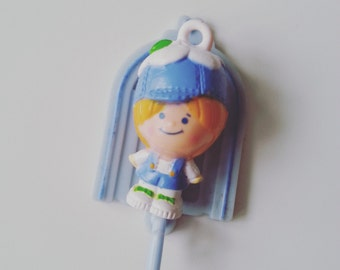 Willie Winkle, blue and white, Charmkins, hasbro, vintage toy, excellent condition,1983, 80s, complete with jewelry, by NewellsJewels