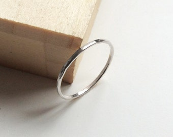 Super skinny 1mm ring, thin ring, thin silver ring,
