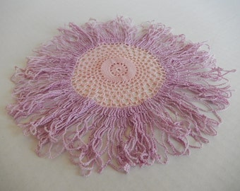 Shabby Pink Lilac Doily Home Decor