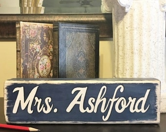 Desk Name Plaque With Photo Holders