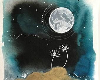 Moon Series #11  11x17 Poster Art Moon Print