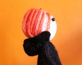 David Bowie Low knitted finger puppet