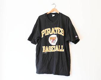 Vintage Black Pittsburgh Pirates Baseball T Shirt
