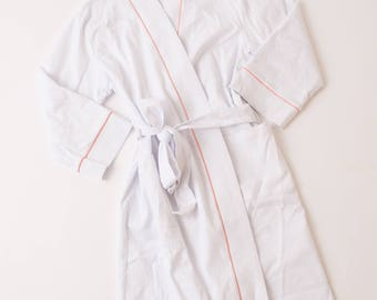 Monogrammed Waffle Weave Robe with Lining