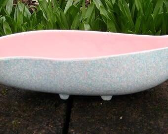 Vintage SHAWNEE Touche Planter 50's Pink Speckled Ceramic Mid-Century 1011