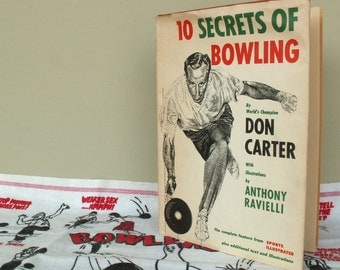Vintage Bowling Book Towels and Patches