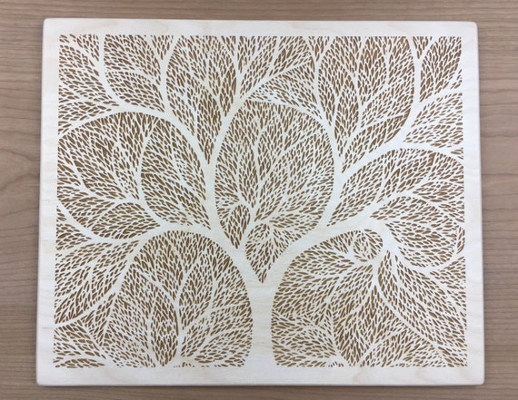 Wood Art 5 Tree Of Life Wall Art Laser Engraved Etched Cut