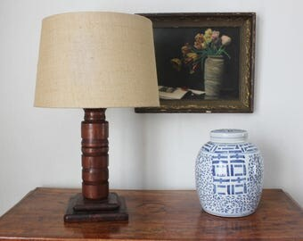 Turned Wooden Lamp