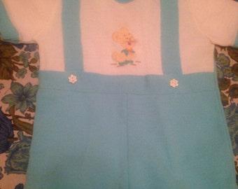 Vintage Knit Jonjon Shortall Suit bunny rabbit