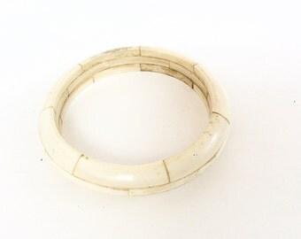 vintage bone  bangle bracelet  beautiful