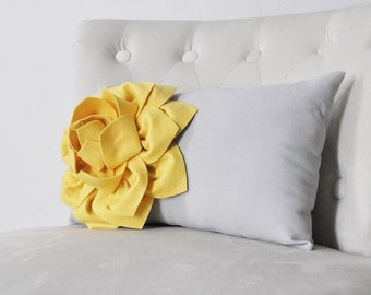 yellow throw pillow decorative gold yellow throw lumbar toss pillow dahlia golden mellow yellow