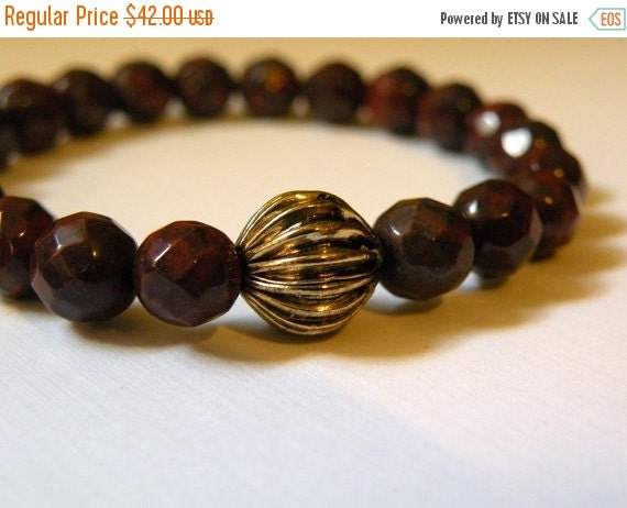 HOLIDAY SALES EVENT Ariel   -   Faceted Jasper Stretch Bracelet    -   Hand crafted Bracelet     -  Fall Collection   -  Energy    -  Happin