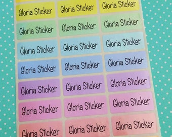 9 Colors Custom Waterproof Name Labels-School,Daycare,Envelope Seal,Sippy Cup,Lunch Box,Allergic Label,Water Bottle,Summer Camp