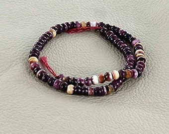PURPLE SPINY OYSTER Rondelle Beads 3.5mm