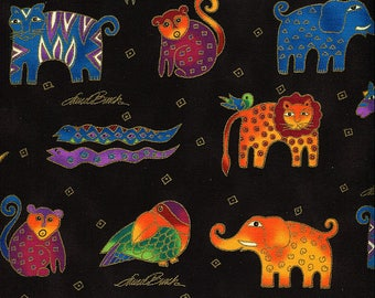 Mythical Jungle Animals - Laurel Burch - Clothworks - Fat Quarter
