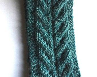 hand knitted headband earwarmer with wool uk seller
