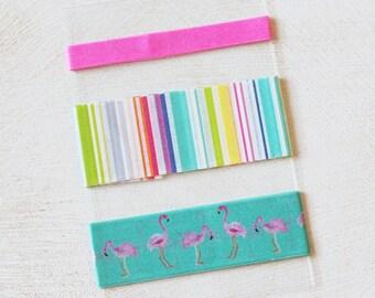 Flamingos - Brights - Stripes - Washi Tape SAMPLE - 24 inches