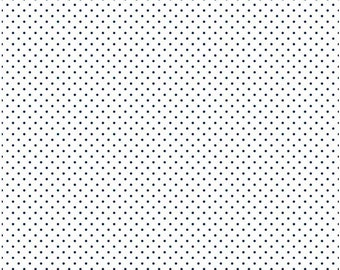 SALE Riley Blake Swiss Dot Navy Cotton Fabric FREE SHIPPING