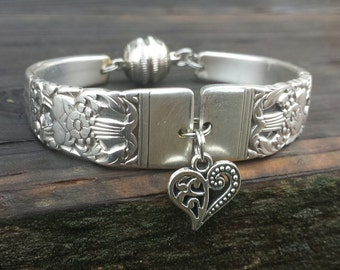 Antique Silverware Bracelet Dated 1936
