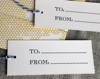Set of 10 Beehive Gift Tags