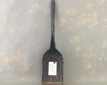 Vintage metal shovel, coal shovel,  primitive, scoop, black