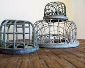 Set of Three Vintage Metal Cage Flower Frogs
