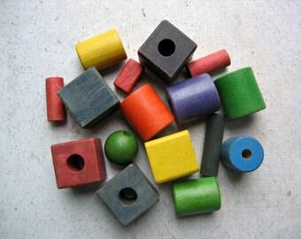 Colorful Vintage Wooden Blocks