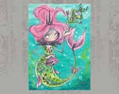 MerMay Day 5 - Original ACEO, watercolor painting