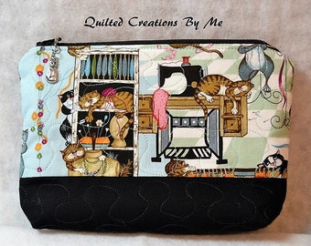 READY To SHIP  Cosmetic Bag/Camera Case/Diabetic Supplies Bag by Quilted Creations By Me