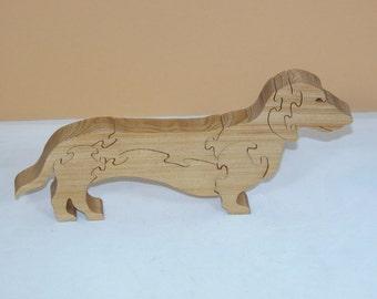 Wiener Dog Puzzle - Dachshund - Home Decor Dog Puzzle - Dachshund Office Decor