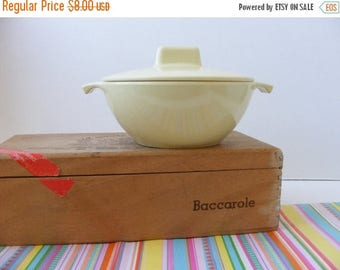 20% OFF MOVING SALE Vintage Melmac Lidded Sugar Bowl Pale Pastel Yellow G.P.L. Canada