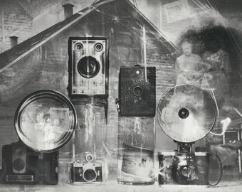 NEW, Memories of the Midwest, digital  art photo, old negatives, 1850s farmer, history, black and white, home decor, large wall art