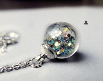 925 sterling silver necklace - mystical glitter