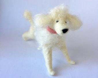 Needle Felted Poodle Dog