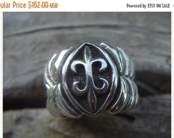 ON SALE Medieval ring in sterling silver