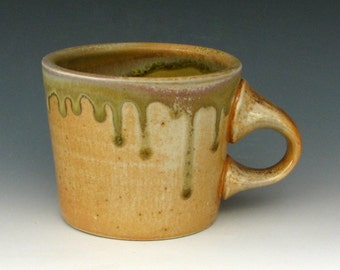 WOOD FIRED MUG #6 - Woodfired Mug - Wood Fired Coffee Mug - Wood Fired Pottery - Stoneware Mug - Small Mug - Studio Pottery