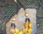 Special Custom Necklace Reserved for Alessandra Puccini- Golden Kiss Look-Alike