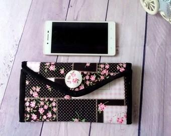 black credit card holder, patchwork credit card case, slim wallets credit card wallet, gift for her, clutch wallet, gift for mom, minim