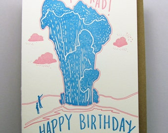 "Letterpress card,  ""You are Rad"""