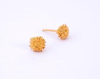 Acorn Earrings, Stud Earrings, Acorn Studs, Post Earrings, Acorn Stud Earrings, Gold acorn earrings, Autumn earrings