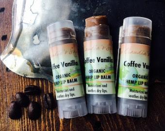 Coffee vanilla hemp lip balm